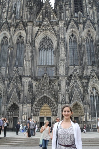Standing outside Köln Domer (Cologne Church)