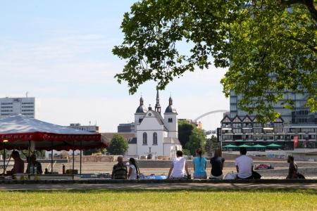 Along the promenade Rhein