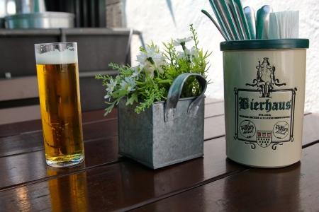Enjoying some Kölsch beer at a Bierhaus