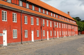 Beautiful red buildings at Kastellet