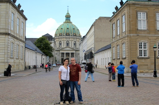 In front of the Marble Church