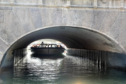 Ducking under bridges on the Canal Cruise