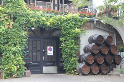 At our hotel in Rüdesheim, you could sleep in a wine barrel for a night!