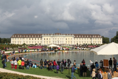 Ludwigsburg Palace with a view of the pumpkin racing