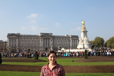 Buckingham Palace right before changing of the guard!