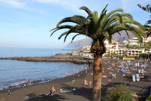 Black sand beaches of Los Gigantes