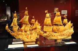 Precious amber ship models