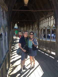 On the Hogwarts bridge!