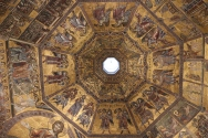 Gilded ceiling in the Baptistery